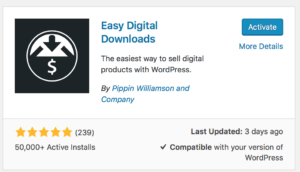 Activate Easy Digital Downloads